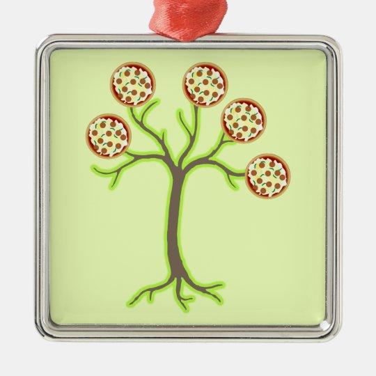 pizza tree metal ornament