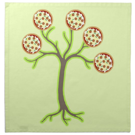 pizza tree napkin