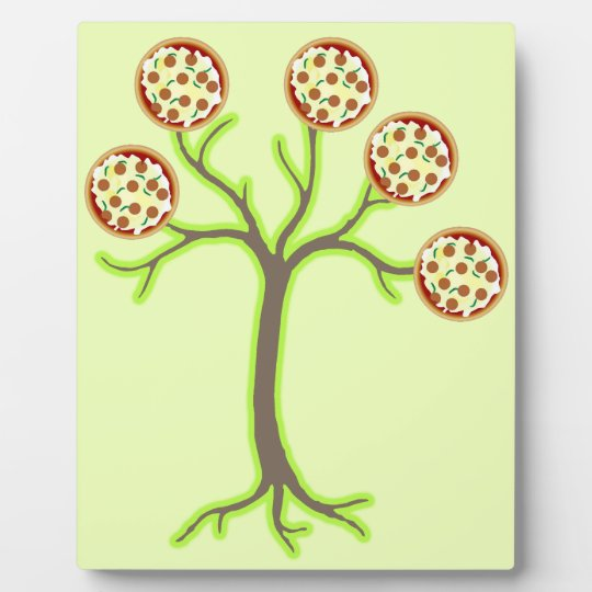 pizza tree plaque