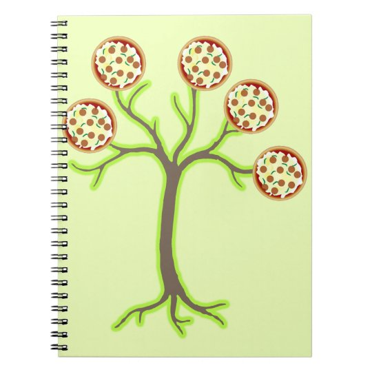 pizza tree spiral notebook