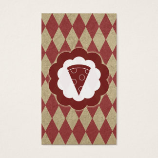 pizza vintage business card