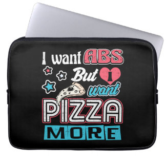 Pizza vs Abs - Bulking Diet - Funny Carbs Novelty Laptop Sleeve