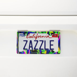 Pizzazz License Plate Frame