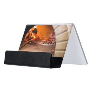 Pizzeria Desk Business Card Holder