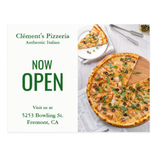 Pizzeria Opening | Now Open | Direct Mail Postcard