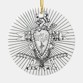 PKA Crest BW Weathered Ceramic Ornament