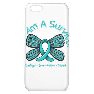 PKD Butterfly I Am A Survivor Case For iPhone 5C