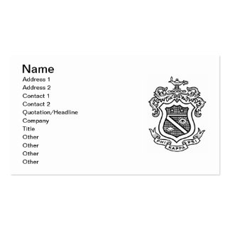 PKP Crest Black Double-Sided Standard Business Cards (Pack Of 100)