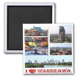 PL - Poland - Warsaw - I Love - Collage Mosaic Magnet