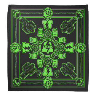 PLA Bandanna designed by Don Fickles (green print)