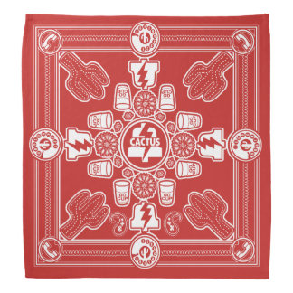 PLA Bandanna designed by Don Fickles (white print)