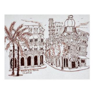 Placa de la Reina in Old Town, Valencia, Spain Postcard