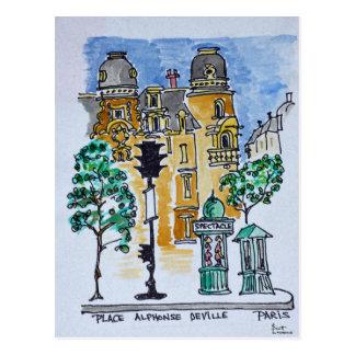 Place Alphonse Deville | Paris, France Postcard