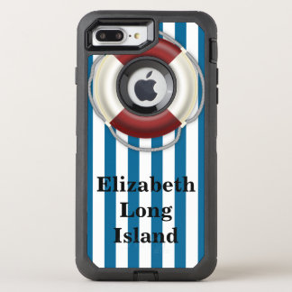 Place and Name Beach Design OtterBox Defender iPhone 7 Plus Case