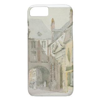Place Barthelme, Paris, c.1829 (w/c & grey wash ov iPhone 7 Case