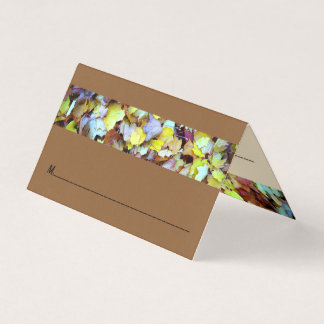 Place Card for Fall Leaves Collection