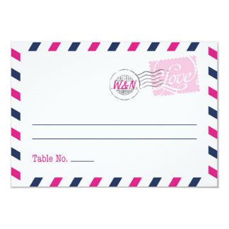 Place Card Postal Service Collection 9 Cm X 13 Cm Invitation Card