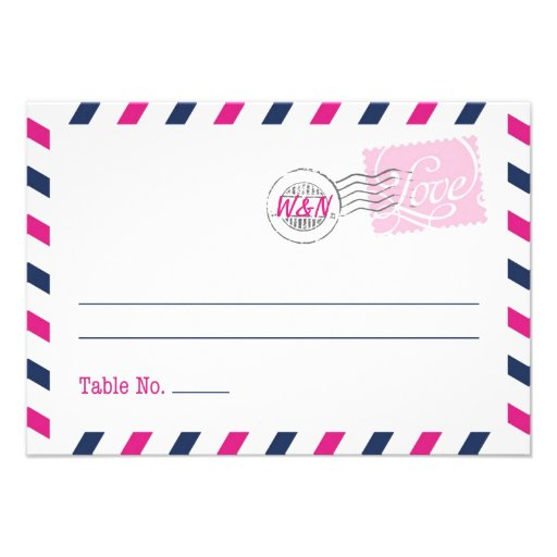 Place Card Postal Service Collection Custom Announcements