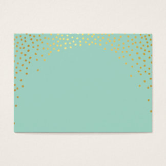 PLACE CARDS mini spot confetti gold mint