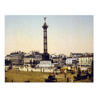 Place de la Bastille, 1900, Paris Postcard