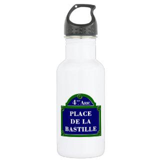 Place de la Bastille, Paris Street Sign 532 Ml Water Bottle