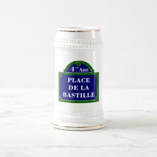 Place de la Bastille, Paris Street Sign Beer Steins