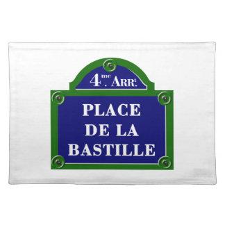 Place de la Bastille, Paris Street Sign Place Mat