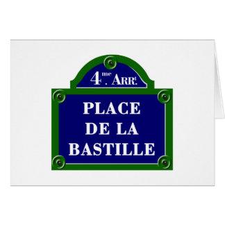 Place de la Bastille, Paris Street Sign Greeting Card