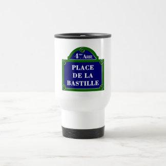 Place de la Bastille, Paris Street Sign Coffee Mugs