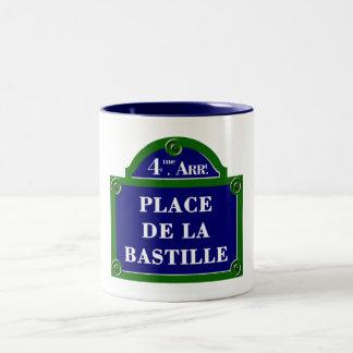 Place de la Bastille, Paris Street Sign Coffee Mug