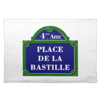 Place de la Bastille, Paris Street Sign Place Mat