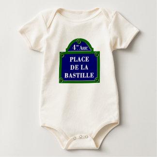 Place de la Bastille, Paris Street Sign Baby Creeper
