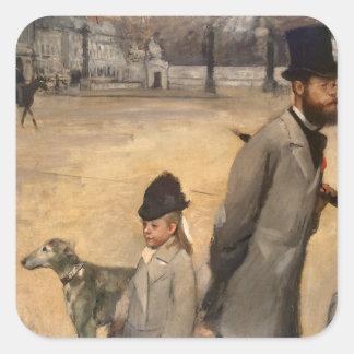 Place de la Concorde, 1875 Square Sticker