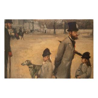 Place de la Concorde, 1875 Wood Canvas