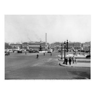 Place de la Concorde, designed in 1757 Postcard