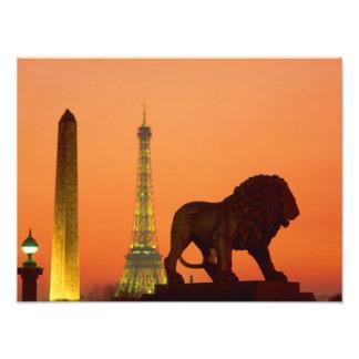 Place de la Concorde; Eiffel Tower; Obelisk; Photograph