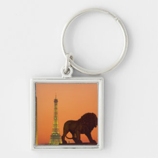 Place de la Concorde; Eiffel Tower; Obelisk; Silver-Colored Square Key Ring