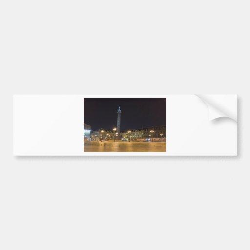 Place de la concorde in Paris at night Bumper Sticker