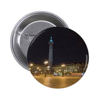 Place de la concorde in Paris at night Buttons