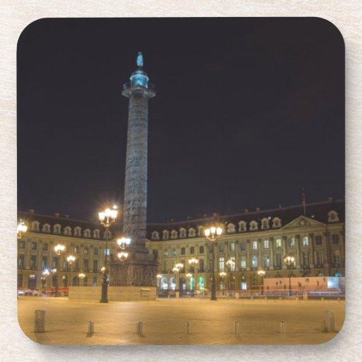 Place de la concorde in Paris at night Coasters