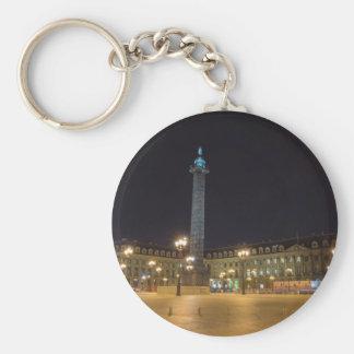 Place de la concorde in Paris at night Key Ring