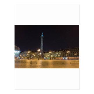 Place de la concorde in Paris at night Postcard