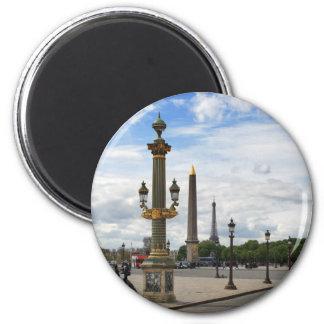 Place de la Concorde 6 Cm Round Magnet