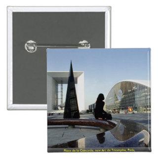 Place de la Concorde new Arc de Triomphe Paris Pinback Button