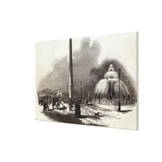 Place de la Concorde, Paris Stretched Canvas Print