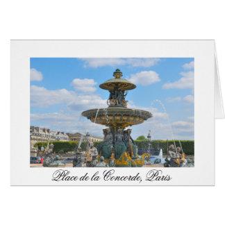 Place de la Concorde, Paris Card