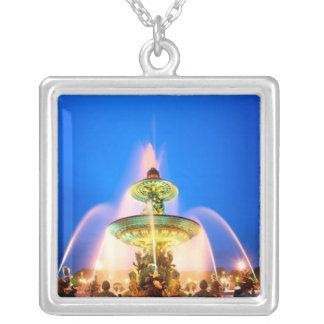 Place de la Concorde, Paris, France Square Pendant Necklace