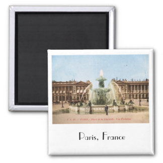 Place de la Concorde, Paris, France Vintage Square Magnet