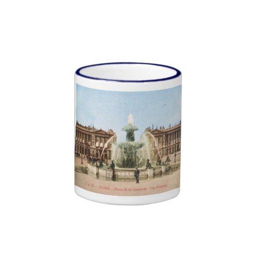 Place de la Concorde, Paris, France Vintage Coffee Mug