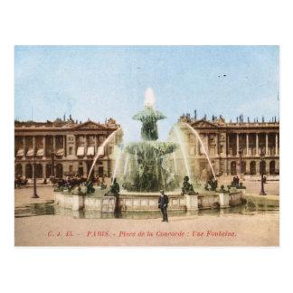 Place de la Concorde, Paris, France Vintage Postcard